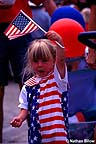 Patriotic girl at the Fourth of July parade
